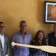 COTA Presenting the Westbank First Nations a Paddle